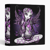 valentine's, day, pink, ribbon, fairy, faery, faerie, fantasy, art, myka, jelina, Binder with custom graphic design