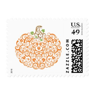 Lacy Pumpkin Postage Stamp