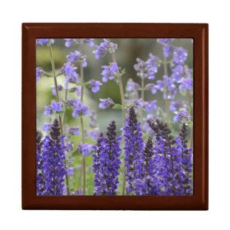 Lacy Purple Flowers Jewelry Box