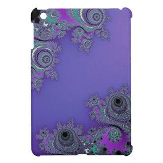 Lacy Purple Fractal Case For The iPad Mini