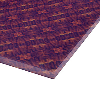 Lacy Purple & Orange Stripes Cutting Board