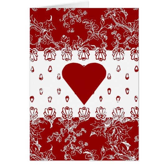 Lacy Red Valentine Card