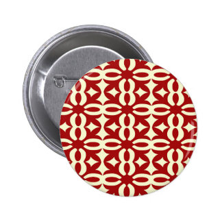 Lacy Red Victorian Print Button