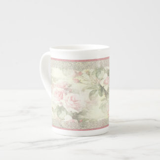 "Lacy Ribbon ""Misty Rose"" China Cup Tea Cup"