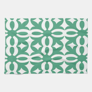 Lacy Seafoam Green Victorian Print Hand Towel