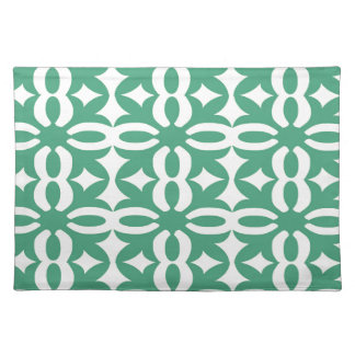 Lacy Seafoam Green Victorian Print Placemat