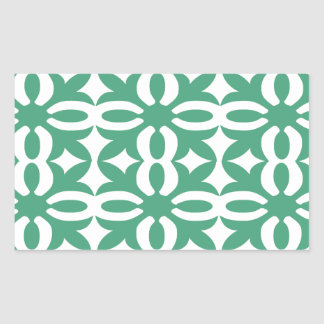 Lacy Seafoam Green Victorian Print Rectangular Sticker