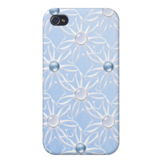 Lacy Snowflakes with Beads  iPhone 4/4S Case