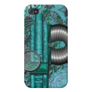 Lacy Steampunk Aqua Speck Case iPhone4