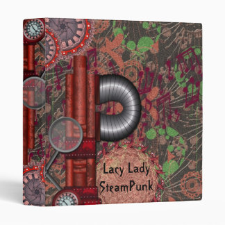 Lacy SteamPunk Reds Notebook Avery Binder