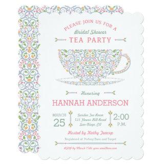 Lacy Teacup Bridal Shower Tea Party Invitation II