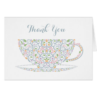 Lacy Teacup Tea Thank You Note Card