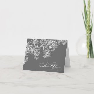 Lacy Thank You Note Card card
