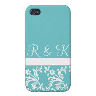 Lacy Turquoise Custom iPhone case