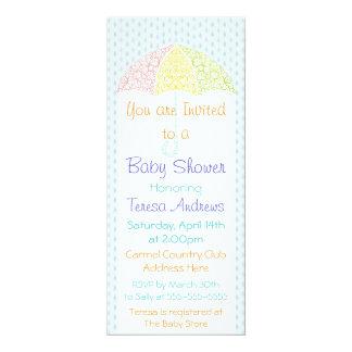 Lacy Umbrella Baby Shower Invitation