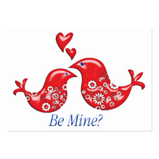 Lacy Valentine Love Birds Card Hand Out for Kids Large Business Cards (Pack Of 100)