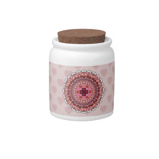 Lacy Valentine's Day Candy Jar