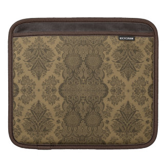 Lacy Vintage Floral in Brown Sleeve For iPads