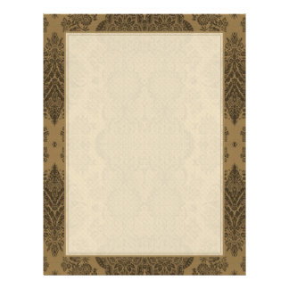 Lacy Vintage Floral in Brown Letterhead