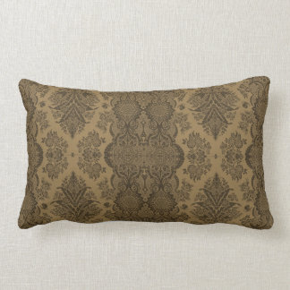 Lacy Vintage Floral in Brown Pillow
