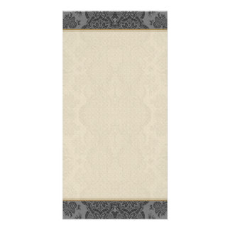 Lacy Vintage Floral in Gray Card