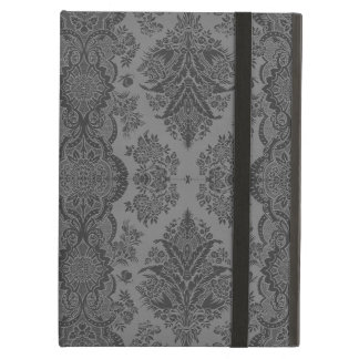 Lacy Vintage Floral in Gray Case For iPad Air