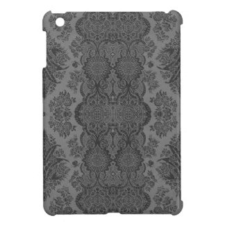 Lacy Vintage Floral in Gray iPad Mini Covers