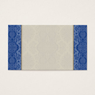 Lacy Vintage Floral in Medium Blue Business Card