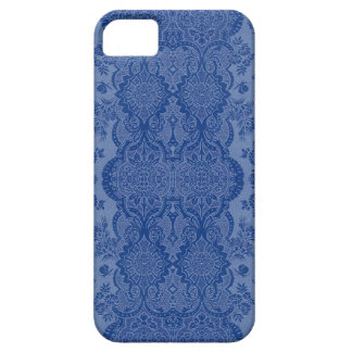 Lacy Vintage Floral in Medium Blue iPhone SE/5/5s Case