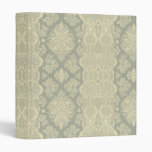 Lacy Vintage Floral Yellow and Gray Binders