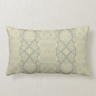 Lacy Vintage Floral Yellow and Gray Pillow