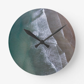 Lacy Waves Whitesands Bay Wales Round Clock