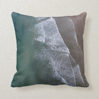 Lacy Waves Whitesands Bay Wales Throw Pillow