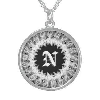 Lacy Wedding Monogram Necklace