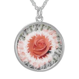 Lacy Wedding Rose Photo Necklace