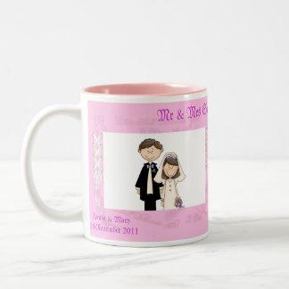 Lacy Wedding Two-Tone Coffee Mug