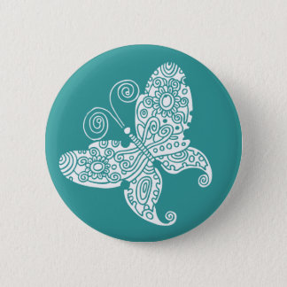 Lacy White Butterfly Button