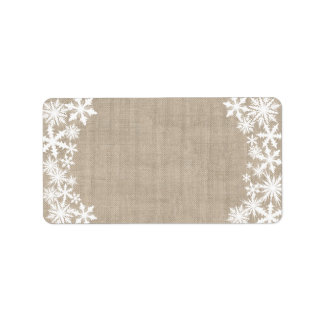 Lacy Winter Holiday Address Label