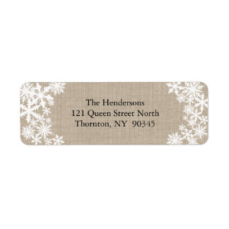 Lacy Winter Holiday Return Address Labels