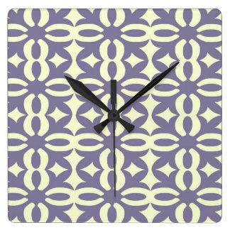 Lacy Wisteria Victorian Print Square Wall Clock