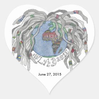 LAD 2015 Heart Sticker