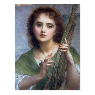 Lad with Harp Postcard