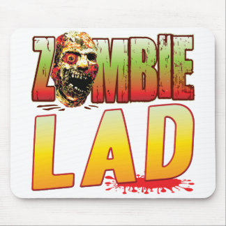 Lad Zombie Head Mouse Pad