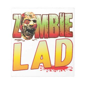 Lad Zombie Head Memo Note Pads