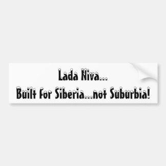 Lada Niva...Built for Siberia...not Suburbia! Car Bumper Sticker