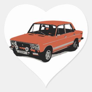 Lada - The Soviet Russian Car Heart Sticker