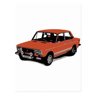 Lada - The Soviet Russian Car Postcard