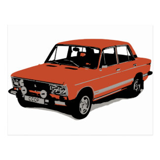 Lada - The Soviet Russian Car Post Cards