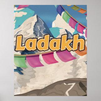 Ladakh, India Vintage travel poster