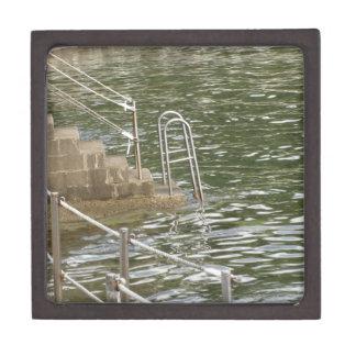 Ladder descending into the sea water jewelry box